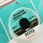 Sedo Shadow Hook-link, Camo Brown ( barna) 35 lbs – 15.9kg 20m Fonott Előkezsinór