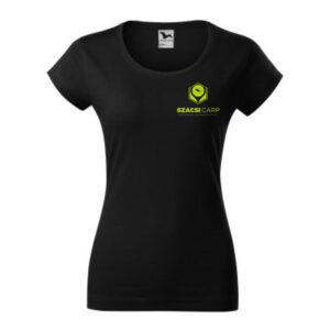Szacsicarp Női póló-Fekete