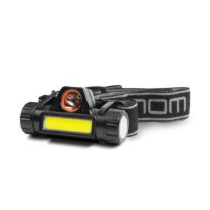 COB+SMD LED-es fejlámpa – akkumulátorral